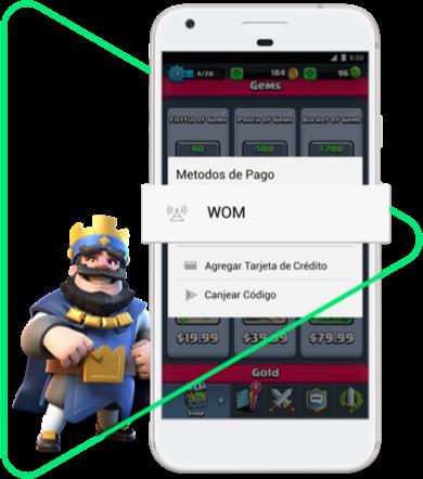 Ejemplo de Pago de Apps y Juegos con WOM