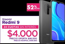 Xiaomi Redmi 9 - 24 cuotas de $4.200 sin interés