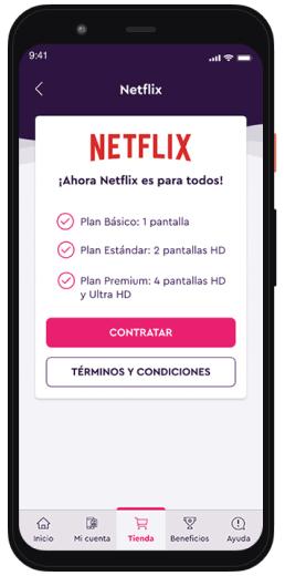 Captura del Paso 04 para contratar Netflix
